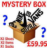 X2 Pairs Of Mystery Shoes + Mystery Items + Socks