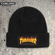 Thrasher Flame Logo Beanie - Black