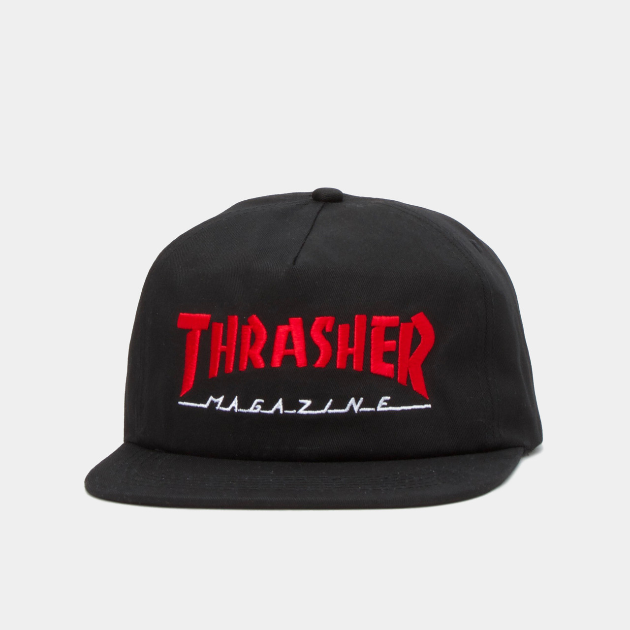 3abb8435bf0 Thrasher Two Tone Magazine Hat - Black Red - The Boardroom