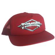 Thrasher Diamond Emblem Trucker Hat - Red