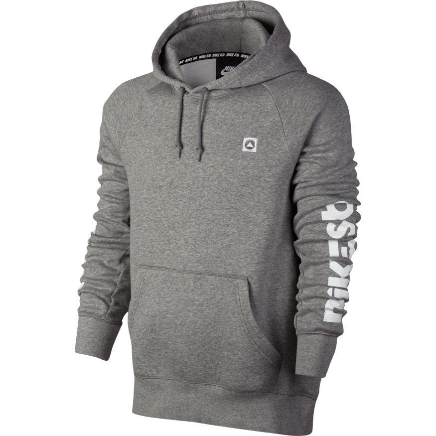 28f2da291af50 Nike SB Icon Hoodie - Grey - The Boardroom
