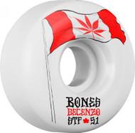 Bones Wheels - STF Decenzo Flowers V2 - White - 51  MM