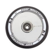 Root Industries 120mm Air Wheels - Pair -  Black on Mirror Chrome