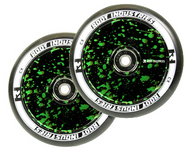 Root Industries 110mm Air Wheels - Pair - Green Splatter