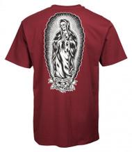 Santa Cruz T-Shirt Jesse Guadalupe Bones - Burgundy