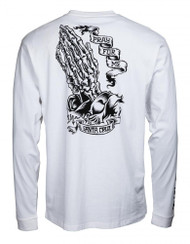 Santa Cruz Longsleeve T Shirt PFM Skeleton - White