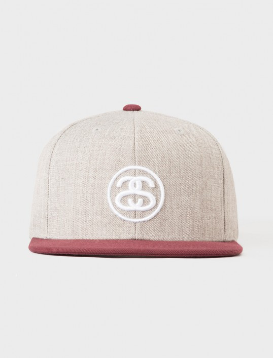 7748417be39 Stussy Link FA17 Snapback Hat - Grey Heather - The Boardroom