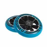 District Scooters 100mm Cast Alloy Core Twin Pack Wheels - Black / Blue