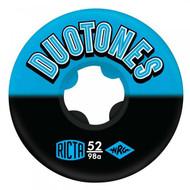 Ricta Duo Tones 98a Skateboard Wheels Blue Black 52mm
