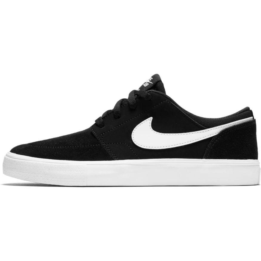 Nike SB , Boys\u0027 Nike SB Portmore II , Skateboarding Shoe , Black/White