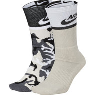 Nike SB 2 Pack Crew Socks - Multi Black White Snow