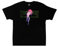 Thrasher Skateboard Magazine X Atlantic Drift T-Shirt - Black