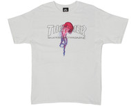 Thrasher Skateboard Magazine X Atlantic Drift T-Shirt - White