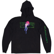 Thrasher Skateboard Magazine X Atlantic Drift Hoodie - Black