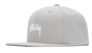 Stussy Stock Snapback Hat - Grey