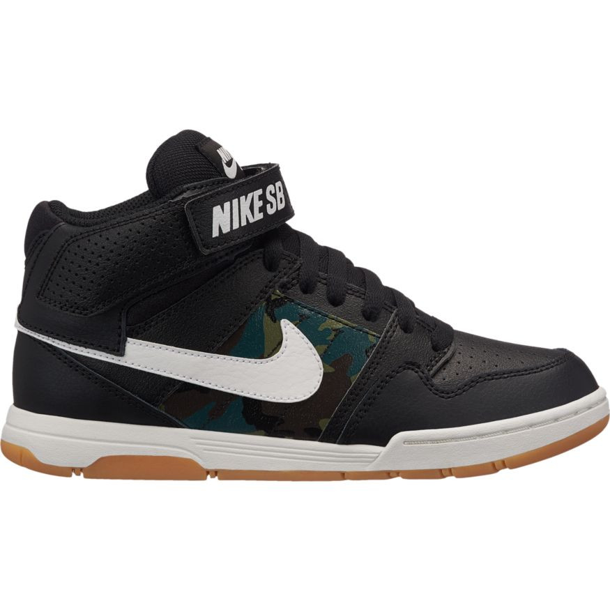 e26f89cfea13 ... Boys  Nike SB Mogan Mid Top 2 JR - Skateboarding Shoe - Black and White.  Price  £42.95. Image 1