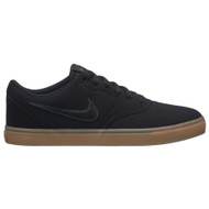 Nike SB - Men's Check Solarsoft Canvas Skateboarding Shoe - Black Gum