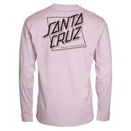 Santa Cruz Squared Long Sleeve T Shirt - Pink
