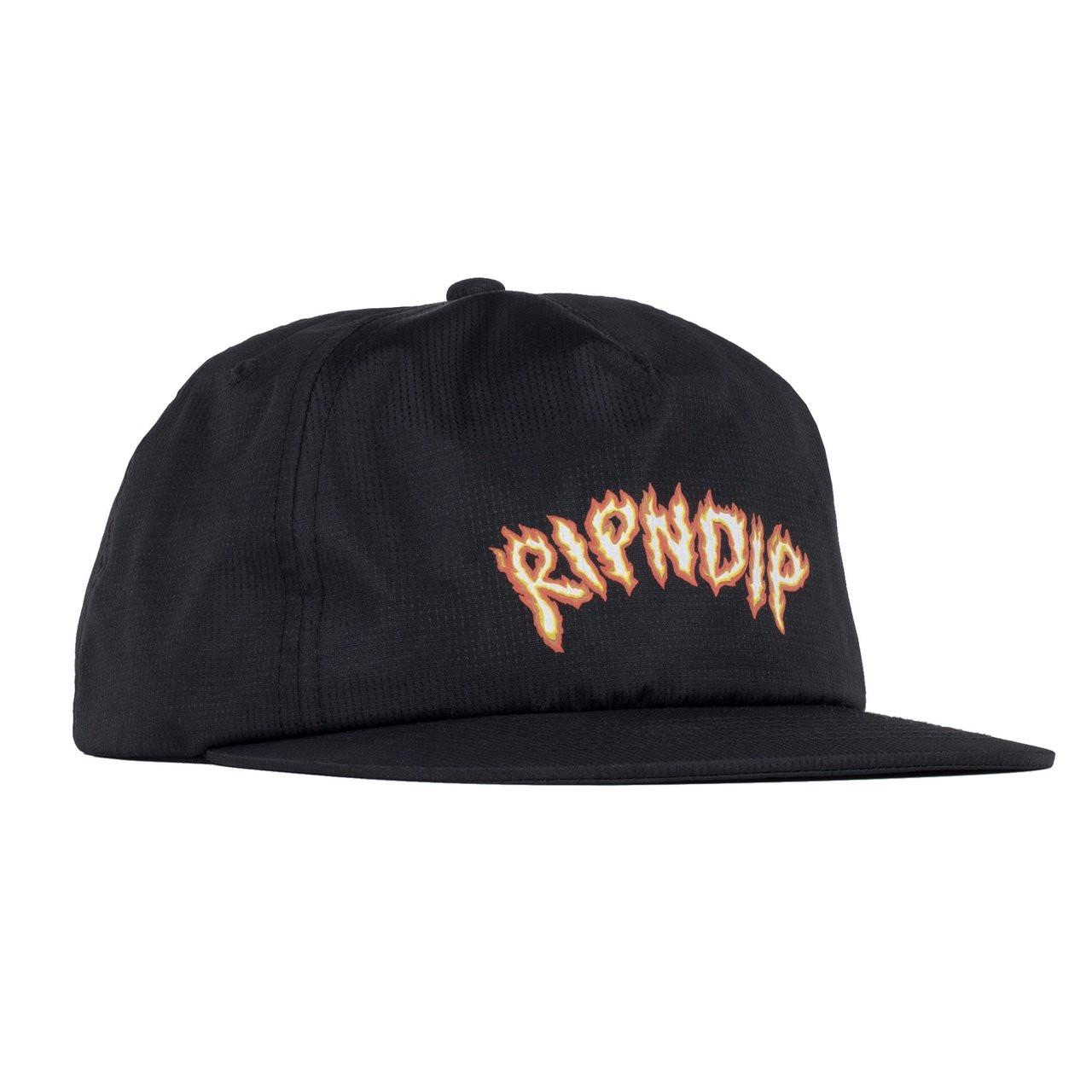 c47246ecc75 RIPNDIP Inferno Snapback Hat - Black