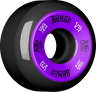 Bones 100's V5 Skateboard Wheels 55mm - Black