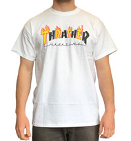 Thrasher Flame Mag Tee - White