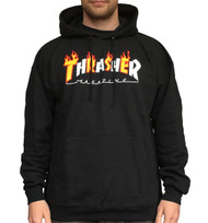 Thrasher Limited Edition Flame Mag Hoodie - Black