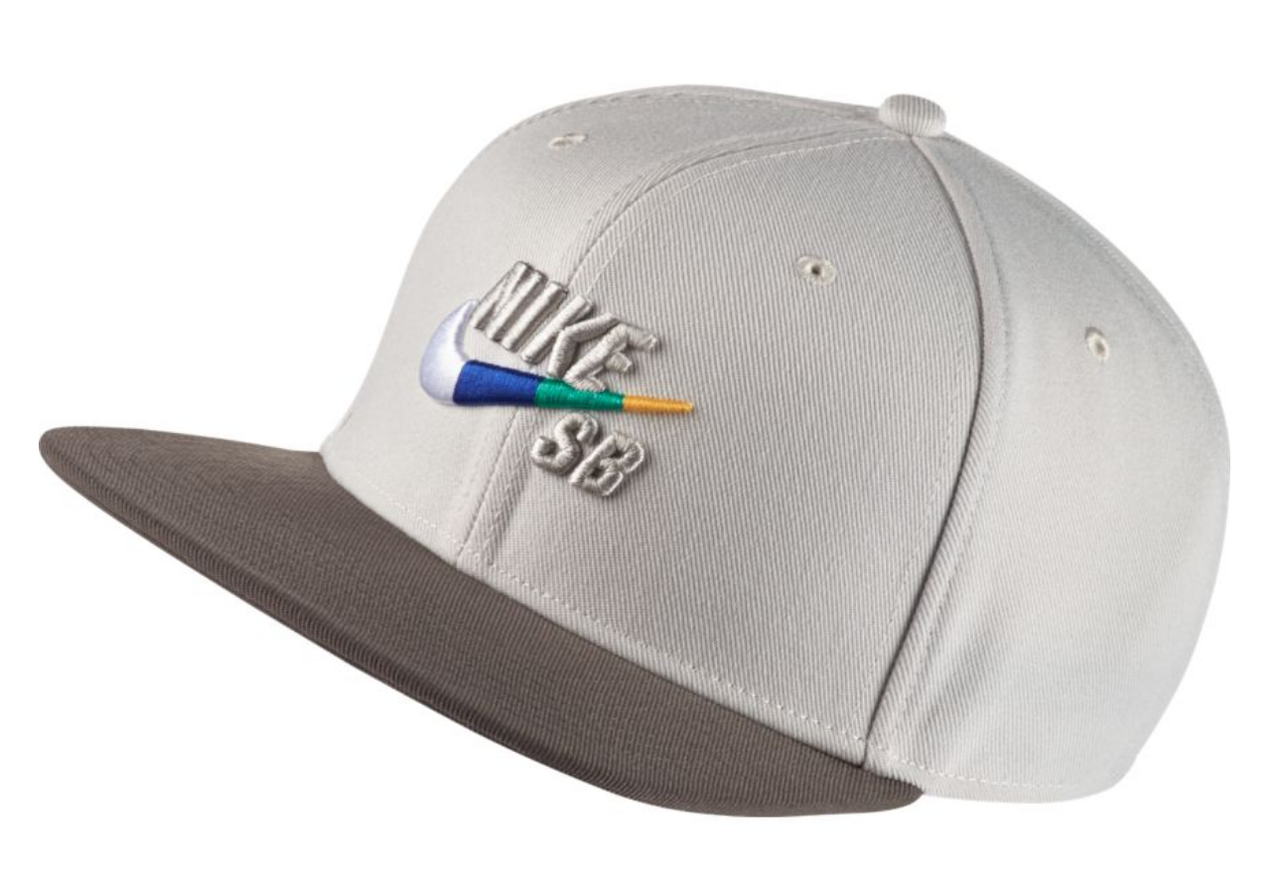 57c389ecec03a Nike SB Pro Snapback Hat - Light Bone   Multi Swoosh