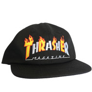 Thrasher Flame Mag Snapback Hat - Black