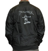 Thrasher Gonz Reversible Coach Jacket - Black / Camo