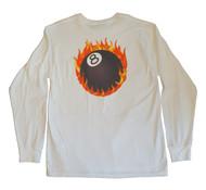 Stussy - Fire Ball Long Sleeve Tee - White