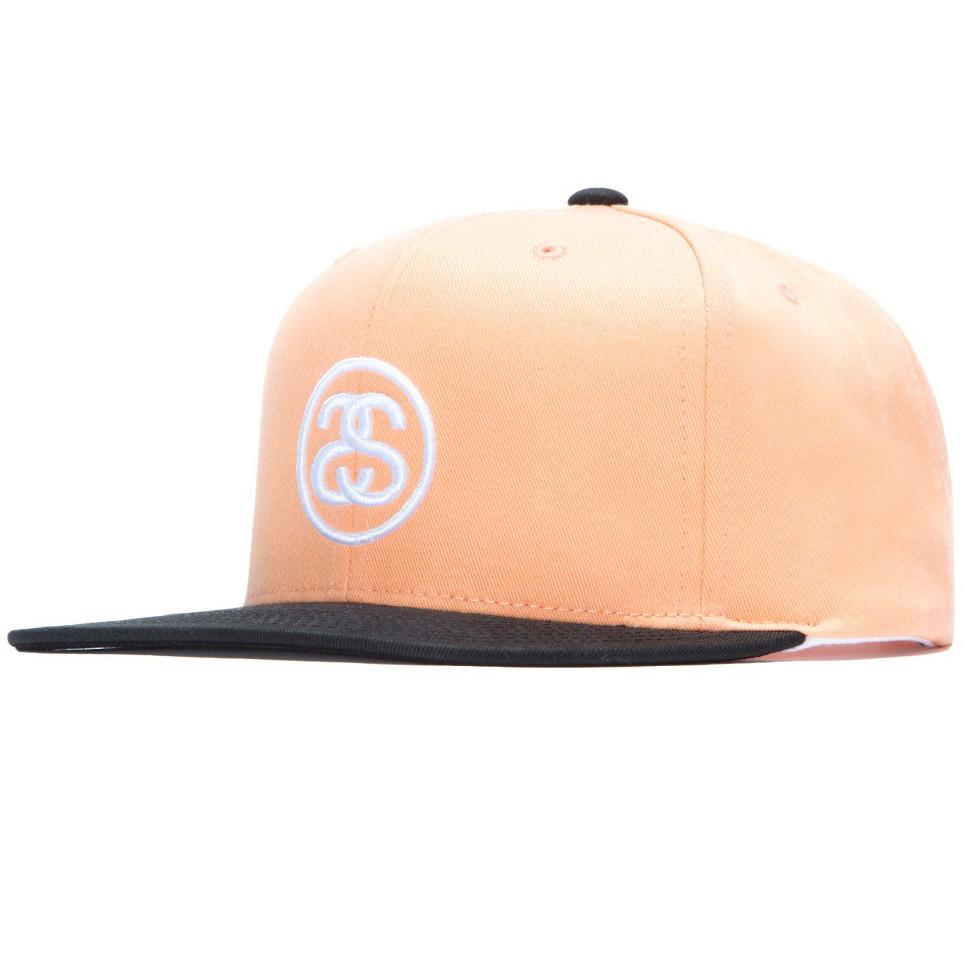 Stussy SS-Link Snapback - Peach. Price  £44.95. Image 1 0e4e9e87a0c