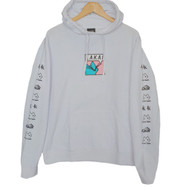 Lakai Leon Karssen Box Embroidered Cat Hoodie - White
