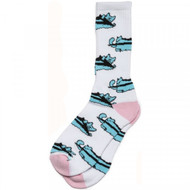 Lakai X Leon Karssen Repeat Cat Socks - White / Pink