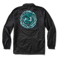 Primitive Rick And Morty Portal Coach Jacket - Black