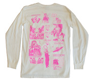 Stussy Mash Pigment Dyed Long Sleeve Tee - Natural