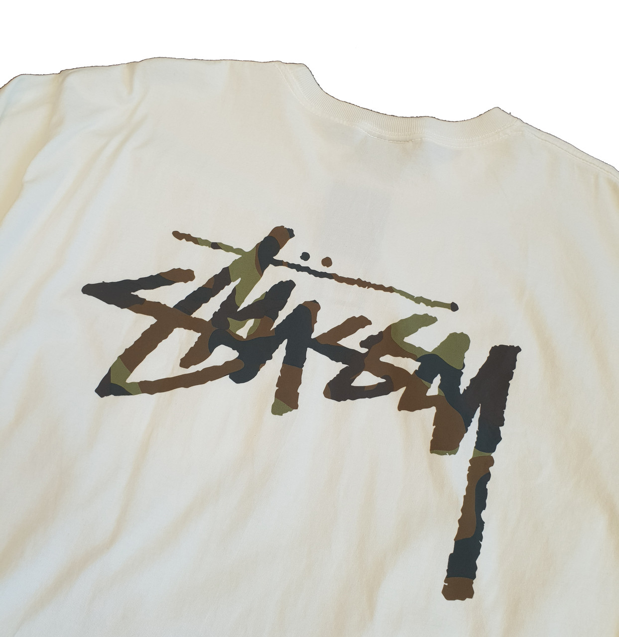 0bdfa799 Stussy Camo Stock Pigment Dyed Pocket Tee - Natural. Your Price: £44.95  (You save £27.00). Image 1. Larger / More Photos