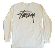 Stussy Camo Stock Pigment Dyed Pocket Tee - Natural