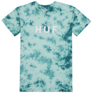 HUF - OG Logo Crystal Wash Tee - Bright Aqua