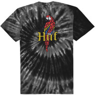 HUF Worldwide Bar Bird Tie-Dye SS Tee - Black