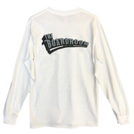 The Boardroom Long Sleeve Tee - White / Grey