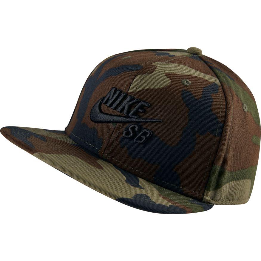 Nike SB Skateboarding Snapback Hat - Camo - Olive Black debcc19b5ef