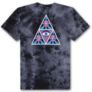 HUF X Psycho Neo Triangle Crystal Wash Tee - Black