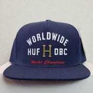 HUF Metal H Strapback Hat - Moon Indigo