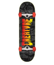 Creature Faces Complete Skateboard 8.00 - Black/Red
