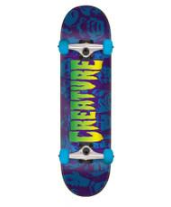 Creature Faces Complete Skateboard 7.25 - Black/Blue