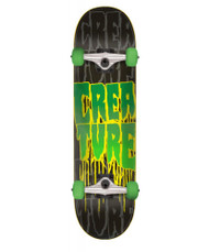 Creature Stacks Mini Complete Skateboard 7.25 - Black/Green