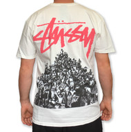 Stussy Beach Mob Pigment Dyed Tee  - Natural / Pink