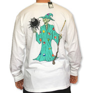 Stussy Wizard Long Sleeve Tee  - White