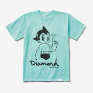 Diamond Supply Co X Astro Boy Tee - Mint Blue