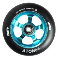 Lucky Atom 110mm Scooter Wheel - Black / Teal